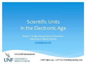 Scientific Units in the Electronic Age Stuart J