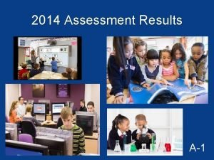 2014 Assessment Results A1 2013 and 2014 FCAT
