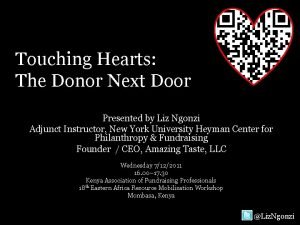 Touching Hearts The Donor Next Door Presented by