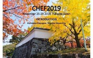 CHEF 2019 November 25 29 2019 Fukuoka Japan