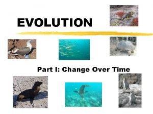 EVOLUTION Part I Change Over Time Misconception Evolution