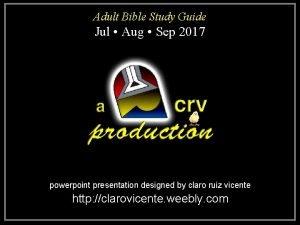 Adult Bible Study Guide Jul Aug Sep 2017