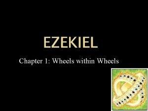 EZEKIEL Chapter 1 Wheels within Wheels Chronology 650