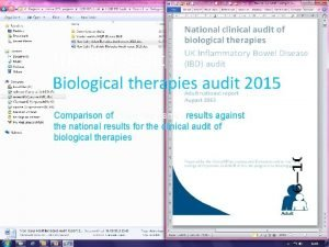 UK IBD audit Biological therapies audit 2015 Comparison