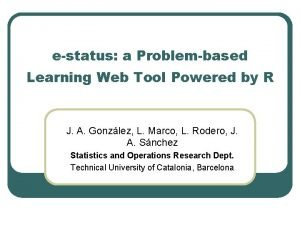 estatus a Problembased Learning Web Tool Powered by