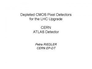 Depleted CMOS Pixel Detectors for the LHC Upgrade