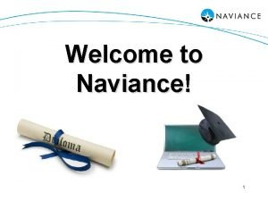 Welcome to Naviance 1 What is it Webbased
