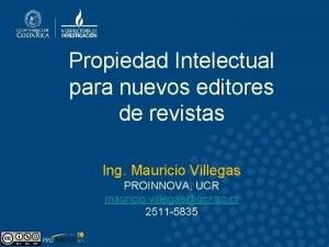 Propiedad Intelectual para nuevos editores de revistas Ing