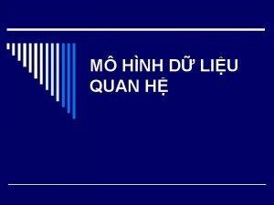 M HNH D LIU QUAN H Quan h