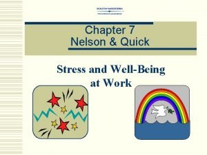 Chapter 7 Nelson Quick Stress and WellBeing at