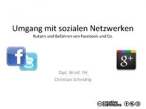 Umgang mit sozialen Netzwerken Nutzen und Gefahren von