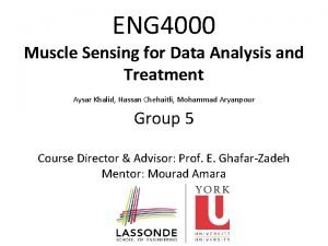 ENG 4000 Muscle Sensing for Data Analysis and