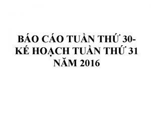 BO CO TUN TH 30 K HOCH TUN
