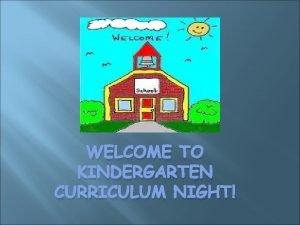 WELCOME TO KINDERGARTEN CURRICULUM NIGHT Your Kindergarten Teachers