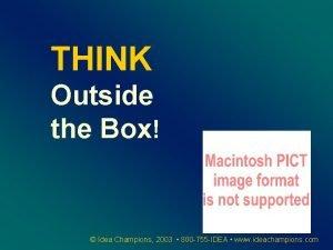 THINK Outside the Box Idea Champions 2003 800