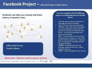 Facebook Project Influential People in Fashion History Facebook
