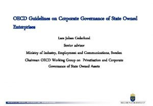 OECD Guidelines on Corporate Governance of State Owned