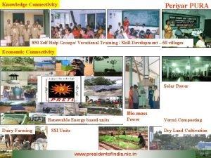 Knowledge Connectivity Periyar PURA 850 Self Help Groups