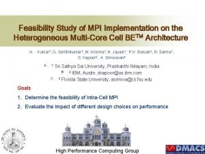 Feasibility Study of MPI Implementation on the Heterogeneous