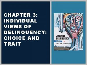 CHAPTER 3 INDIVIDUAL VIEWS OF DELINQUENCY CHOICE AND