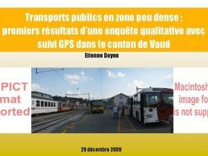 Transports publics en zone peu dense premiers rsultats