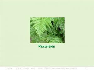 Recursion KMITL 01076249 Data Structures Algorithms Linked List