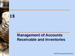 18 Management of Accounts Receivable and Inventories 2006