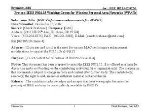 November 2002 doc IEEE 802 15 02472 r