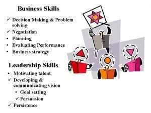 Business Skills Decision Making Problem solving Negotiation Planning