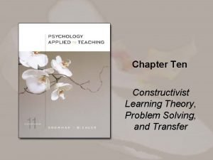 Chapter Ten Constructivist Learning Theory Problem Solving and