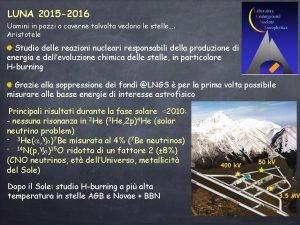 LUNA 2015 2016 Uomini in pozzi o caverne