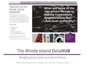 The Rhode Island Data HUB Bridging Data Silos