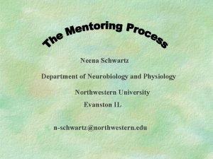 Neena Schwartz Department of Neurobiology and Physiology Northwestern