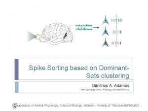 Spike Sorting based on Dominant Sets clustering Dimitrios