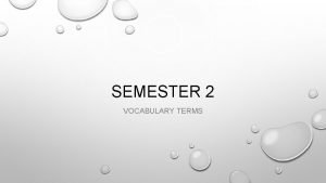 SEMESTER 2 VOCABULARY TERMS 1 GROSS DOMESTIC PRODUCT