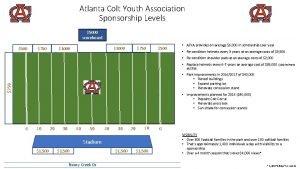 Atlanta Colt Youth Association Sponsorship Levels 5000 scoreboard