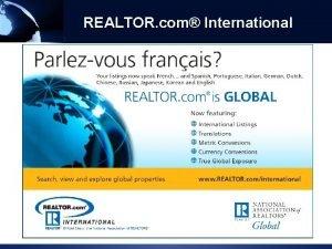 REALTOR com International National Association of REALTORS 2011