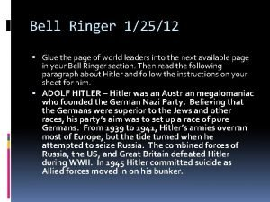 Bell Ringer 12512 Glue the page of world