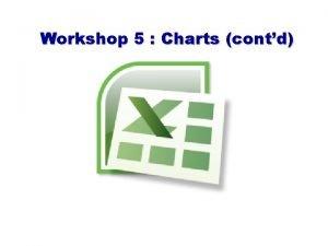 Workshop 5 Charts contd Bar Chart A chart