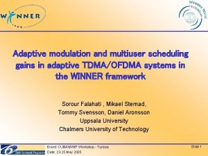 Adaptive modulation and multiuser scheduling gains in adaptive