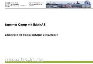 Summer Camp mit IMath AS Erfahrungen mit Internet