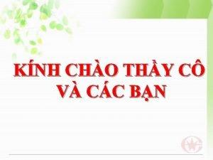 KNH CHO THY C V CC BN Ch