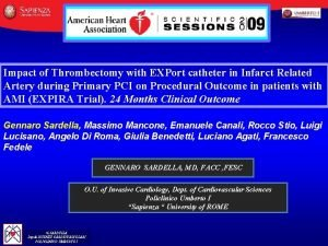 Impact of Thrombectomy with EXPort catheter in Infarct
