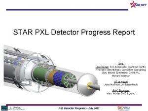 STAR HFT STAR PXL Detector Progress Report LBNL