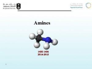 Amines 1435 1436 2014 2015 1 1 Amines