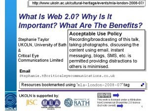 http www ukoln ac ukculturalheritageeventsmlalondon2008 07 What Is