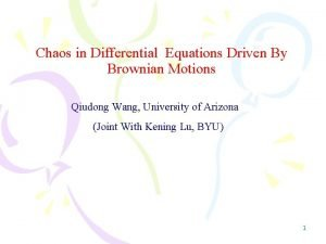 Chaos in Differential Equations Driven By Brownian Motions