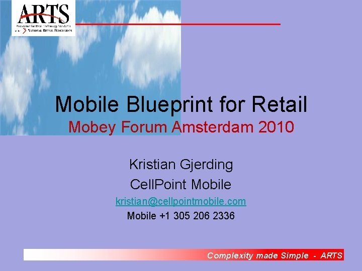 Mobile Blueprint for Retail Mobey Forum Amsterdam 2010
