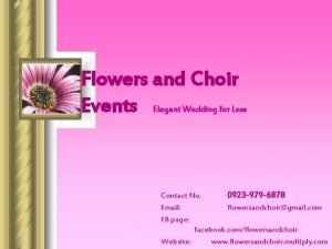 Flowers and Choir Events Elegant Wedding for Less