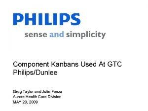 Component Kanbans Used At GTC PhilipsDunlee Greg Taylor